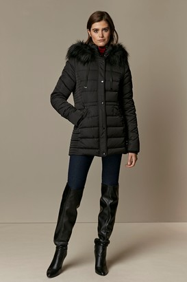 Wallis **TALL Black Quilted Padded Coat
