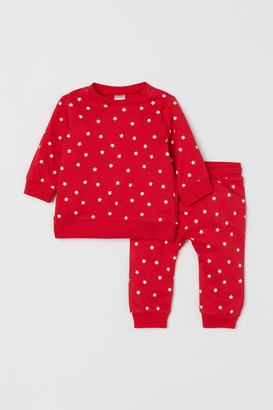 H&M Sweatshirt and Pants - Red