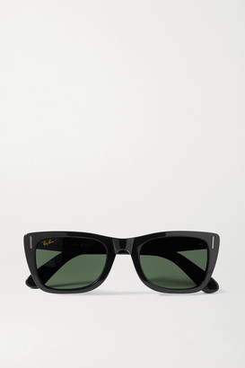 Ray-Ban Caribbean D-frame Acetate Sunglasses - Black