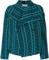 Issey Miyake grid pattern jacket