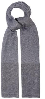 Missoni Metallic-stripe Knitted Scarf - Womens - Silver