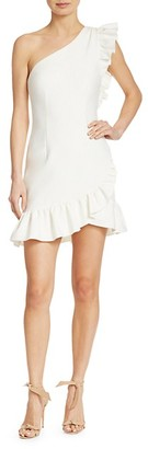 Cinq à Sept Soleil One-Shoulder Cascading Ruffle Dress