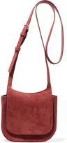 The Row Hunting 7 Suede Shoulder Bag - Brick