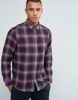 Esprit Regular Fit Long Sleeve Shirt in Flanel Check Cotton