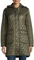 Barbour Diamond-Quilted Hooded Utility Jacket, Olive