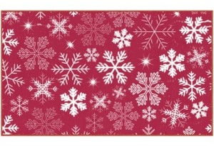 """Mohawk Snowflakes Accent Rug, 24"""" x 40"""" Bedding"""
