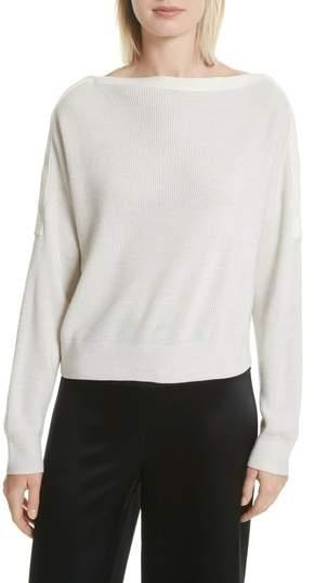 Alexander Wang Snap Detail Merino Wool Blend Sweater