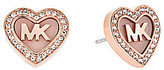 Michael Kors Valentine's Day Pave Heart Stud Earrings