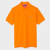 Paul Smith Men's Orange Cotton-Pique Flag-Motif Polo Shirt