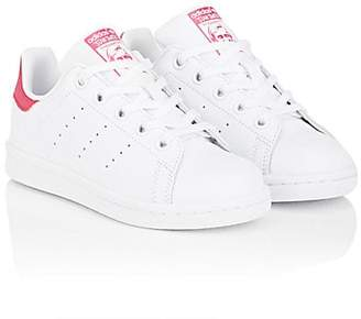 adidas Kids' Stan Smith Leather Sneakers - Ftwwht, Ftwwht, Bopink