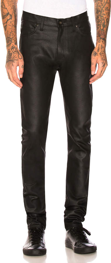 Naked & Famous Denim Stacked Guy 12oz Black Waxed Stretch in Black | FWRD