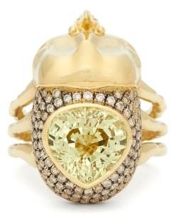 Daniela Villegas Astraios Diamond, 18kt Gold & Chrysoberyl Ring - Gold