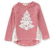 Copper Key Little Girls 2T-6X Christmas Crochet-Tree Top
