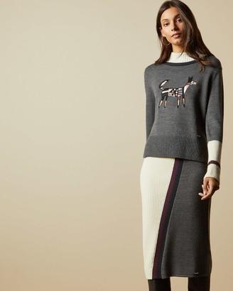 Ted Baker Knitted Wool Skirt