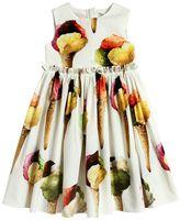 Dolce & Gabbana Ice Cream Print Cotton Poplin Dress