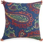 Jessica Simpson Provincial Pom Pom-Trimmed Embroidered Square Pillow