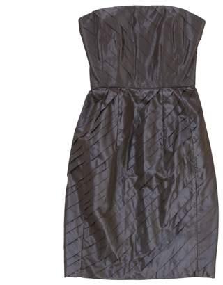 Saint Laurent Grey Silk Dresses