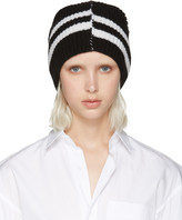 Raf Simons Black Striped Beanie