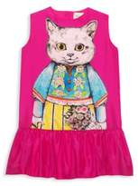 Gucci Girl's Cat Shift Dress