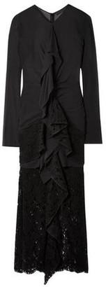 Proenza Schouler Ruffled Cotton-blend Chiffon And Lace Midi Dress