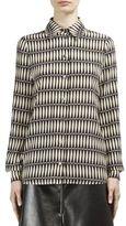 Lanvin Silk Button-Front Blouse