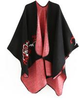 Idowela Women's Shawls black - Black Floral-Accent Shawl