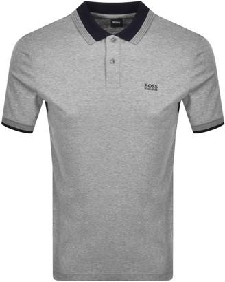 Boss Business BOSS Parlay Jersey Short Sleeve Polo T Shirt Grey