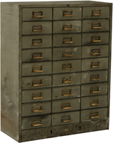 Rejuvenation 33-Drawer Industrial Parts Cabinet C1935
