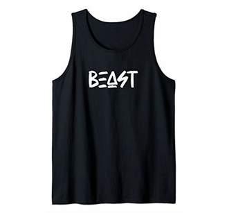 BEAST - Gym Fitness Workout Motivation Tee Desing E415 Tank Top