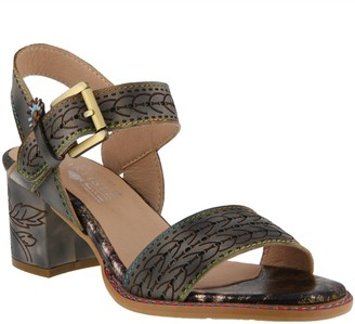 Spring Step L`Artiste by Leather Ankle Strap Sandals - Avonor