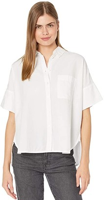 Madewell Daily Shirt in White (Eyelet White) Women's Clothing