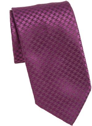 Charvet Houndstooth Silk & Linen Tie