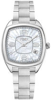 Fendi F221034500-Momento Mother-of-Pearl Satin-Brushed Stainless Steel Link Bracelet Watch