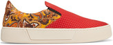 Balenciaga Printed Satin Slip-on Sneakers - Red