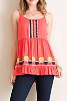 Entro Colorful Embroidery Tank