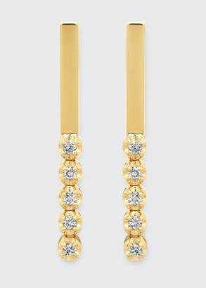 Jennifer Meyer Bar Stud Illusion-Set 5-Diamond Earrings