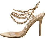 Brian Atwood Metallic Chain-Link Sandals