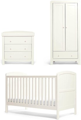 Mamas and Papas Dover Cotbed, Dresser & Wardrobe