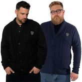 Loyalty And Faith Mens Plus Size Casual Cable Cardigan Knitwear Winter Jumper L&F Sizes 2XL – 5XL