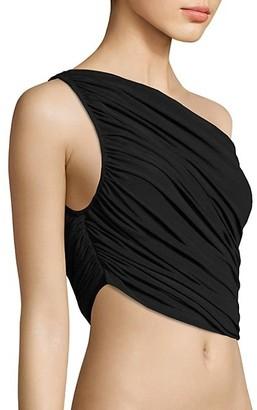 Norma Kamali Diana Shirred Bikini Top