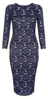 AX Paris Navy Lace 3/4 Sleeve Dress