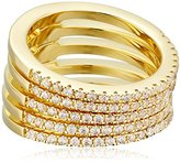 Noir Audley Gold Stackable Ring, Size 7