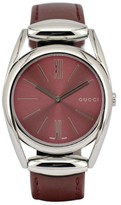 Gucci 139.4 Stainless Steel / Leather with Wine Red 34.5mm Womens Watch