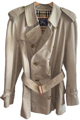 Burberry Khaki Cotton Coats