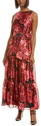 Tahari ASL Petite Tiered Gown