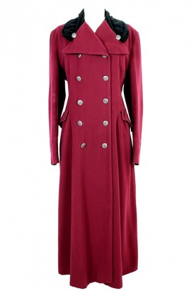 Dolce & Gabbana Red Wool Coat for Women Vintage