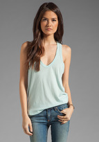 James Perse Clear Jersey Racerback Tank