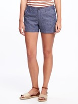 """Old Navy Relaxed Mid-Rise Linen-Blend Shorts for Women (3 1/2"""")"""