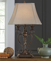 Signature Design by Ashley Janetta Antique Copper Finish Poly Table Lamp (1/CN)