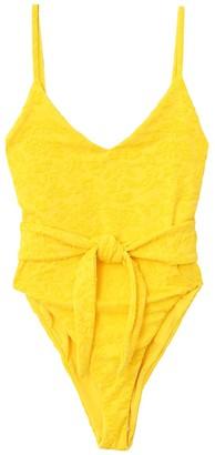 Mara Hoffman Gamela Swimsuit in Yellow